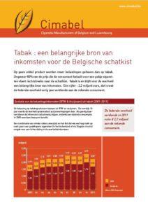 Screenshot Factsheet inkomsten uit tabak
