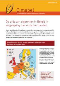 Screenshot Factsheet prijs van sigaretten
