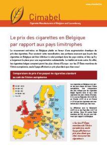 Fiche D Information Le Prix Des Cigarettes Cimabel